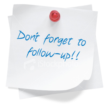 How's Your Follow-Up? | The Small Business Community ...
