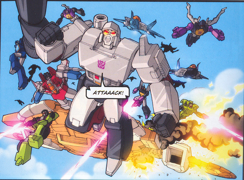 Surprise attack by the Decepticons